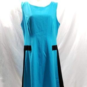 Calvin Klein Sleeveless Dress Size 14 Back Z